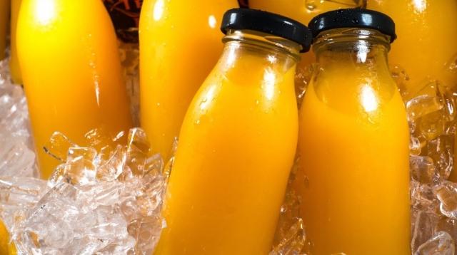 juice bottles in ice - generic